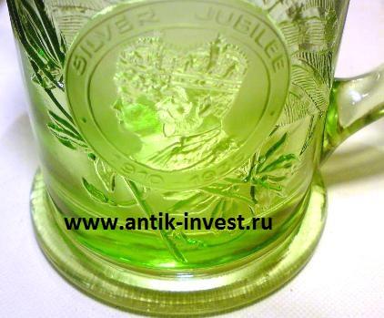 кружка из зеленого не уранового стекла как отличить урановое стекло от обычного зеленого стекла