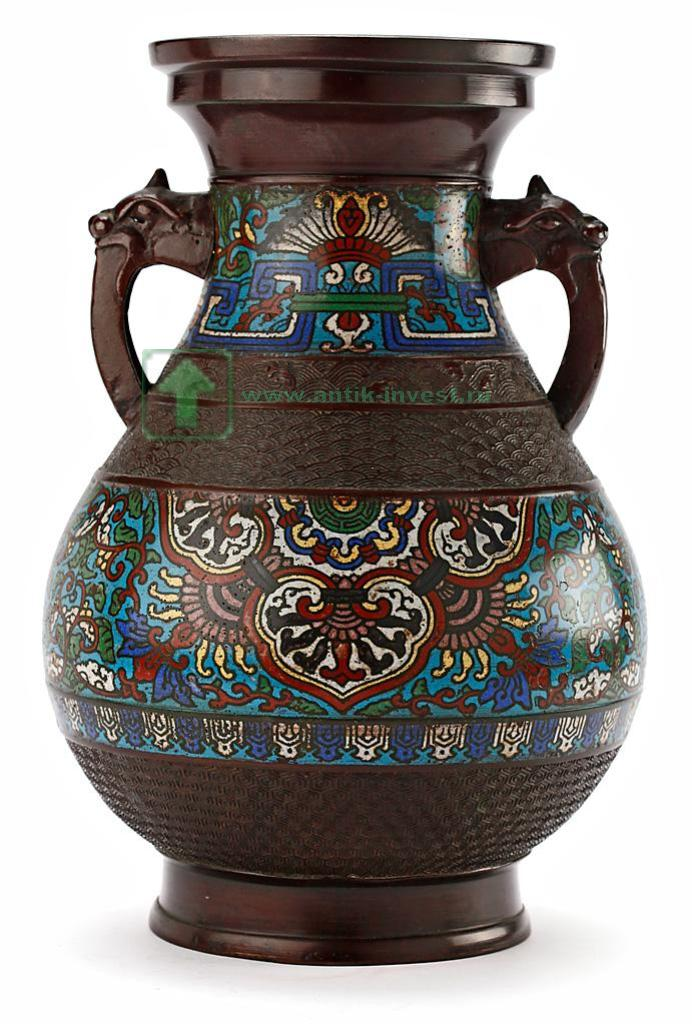 ebf3fbf0a103 кувшин японская ваза с ручками клуазоне XIX век 37 см старт 500 евро