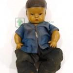 кукла из композита китаец азиат глаза стеклянные 26 см