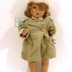 старинная редкая кукла испанская 1940 годы дефект