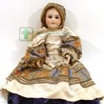 кукла старая французская возможно Jumeau голова фарфор рот открыт глаза закрываются корпус артикуляционный 60 см