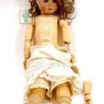 кукла старинная голова фарфоровая корпус на шарнирах оригинальные туфельки 53 см
