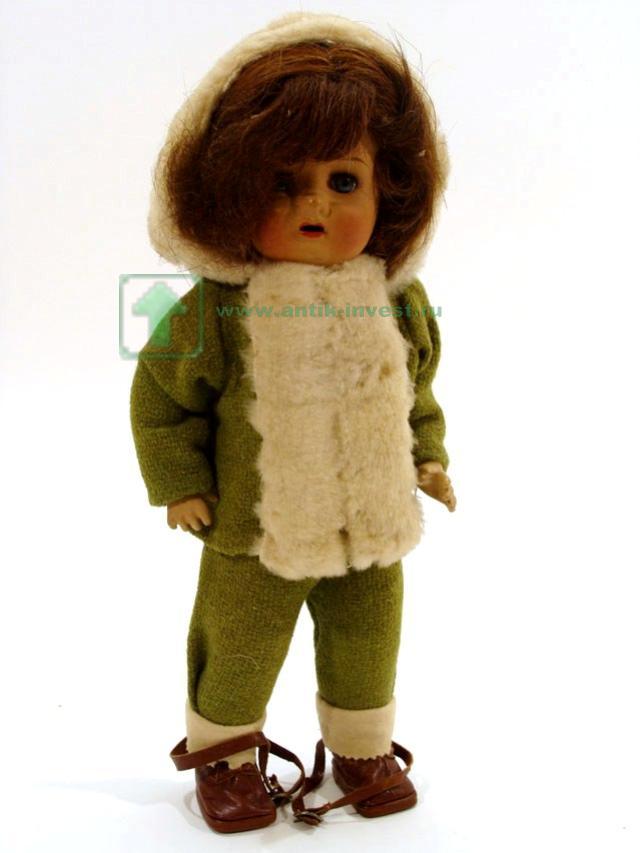 кукла старинная композит глазки закрываются корпус артикуляционный родная одежда 36 см
