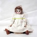 кукла старинная французская RABERY & DELPHIEU 45 см тело композит руки ноги дерево волосы мохеровые