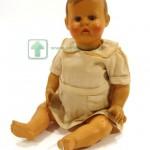 кукла целулоидная глаза стеклянные корспус артикуляционный 1950-ые 36 см