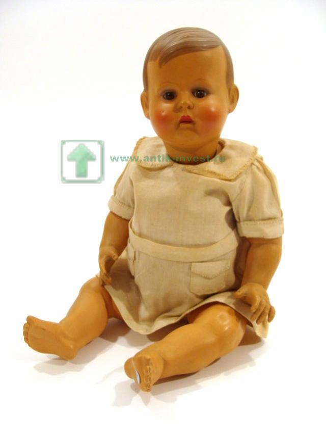 кукла целлулоидная глаза стеклянные корпус артикуляционный 1950-ые 36 см