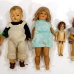 куклы старинные 5шт фарфоровые композитные целлулоидные 55 см