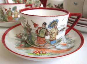 купить старинный сервиз антиквариат чайный фарфоровый китайский стиль