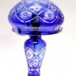 лампа стильная винтажная синее стекло высота 40 см