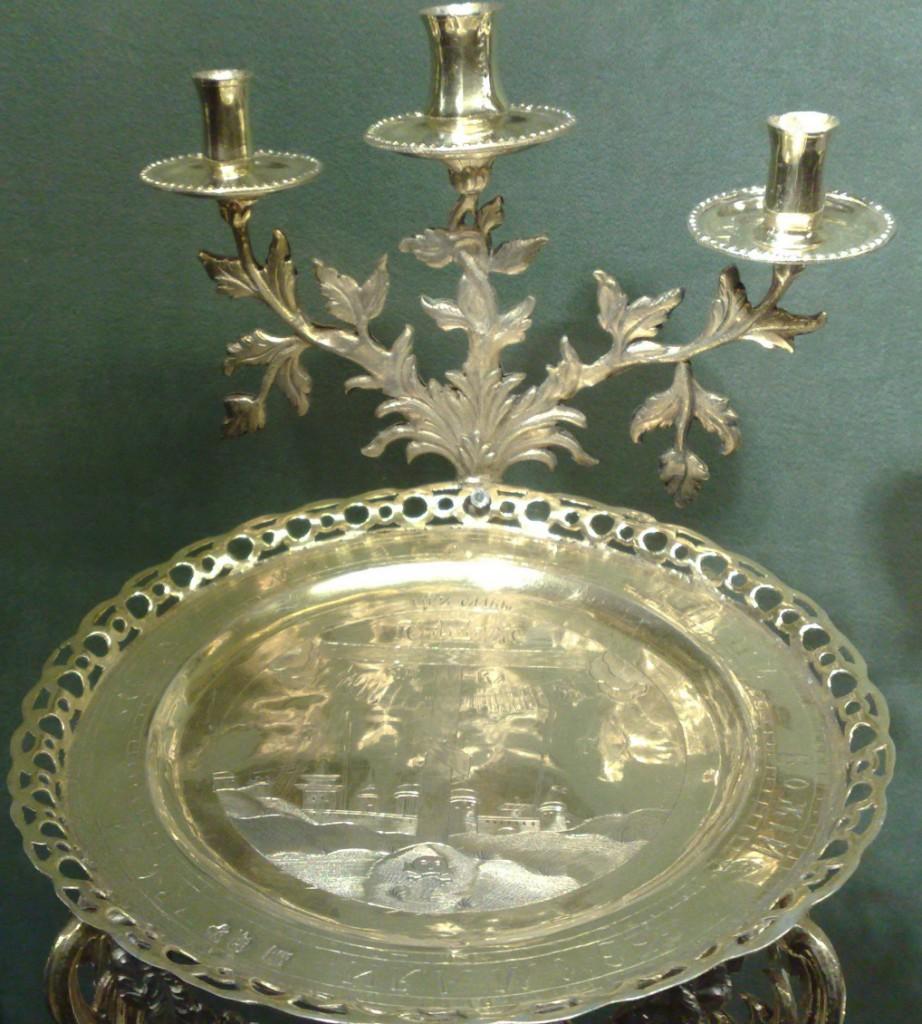Литийный прибор Москва, 1789 год Серебро, чеканка, гравировка, золочение