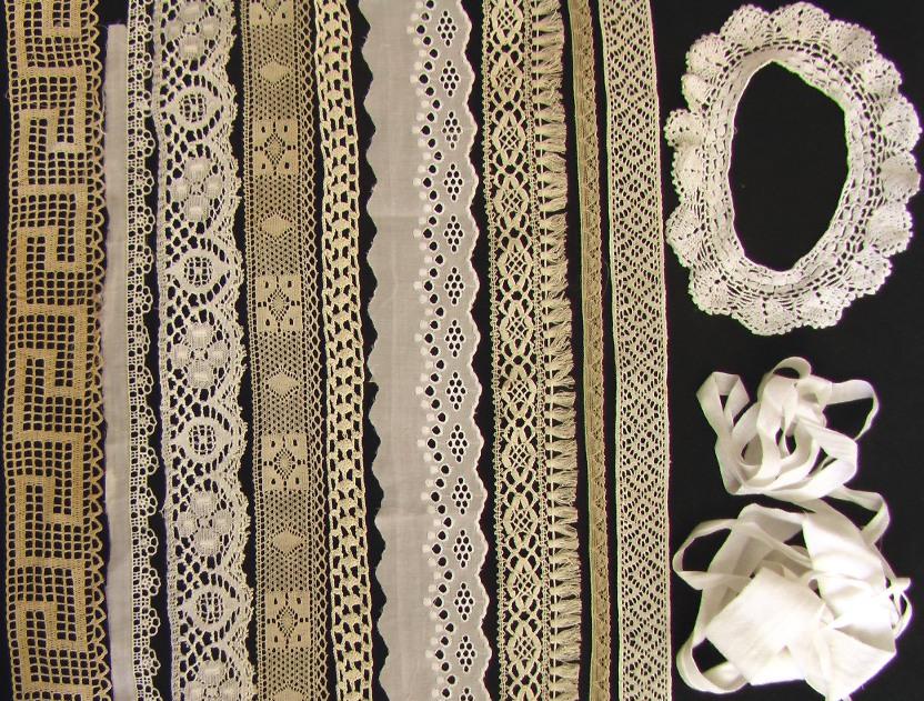 лот 12 шт старинные кружева продажа антиквариата старинный текстиль
