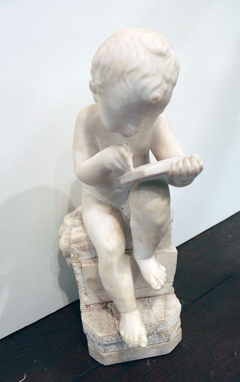 мальчик мрамор высота 40 см Италия начало 20 века старт 800 евро
