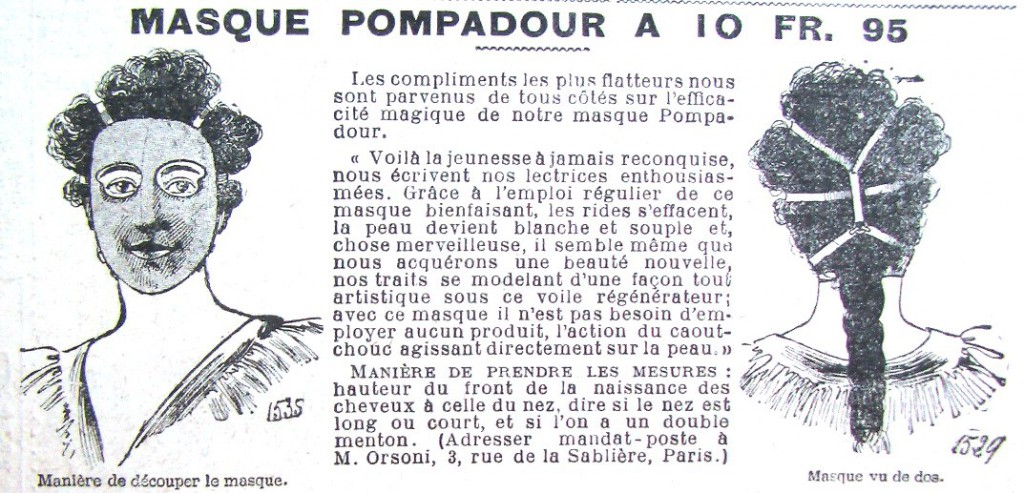 маска для лица по старинному рецепту красота старинные журналы мод франция