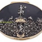 миниатюрная шкатулка таблеточница 18 век черепаха накладки золото и серебро продажа антиквариата купить