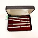 набор в коробке 4 серебряные ручки для игры в покер старт 120 евро