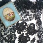 набор классического испанского кружева и вышивки старинный бисер