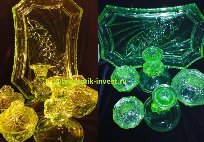посуда из зеленого не уранового стекла как отличить