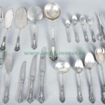 набор столовых приборов серебро неполный в родной коробке 171 предмет старт 3000 евро