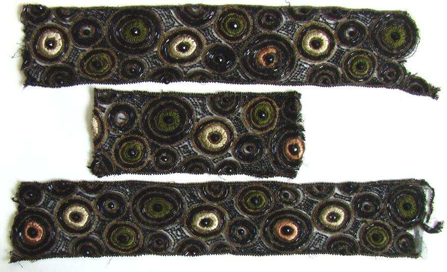 накладки на платье арт деко вышивка бисером 5