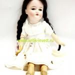 немецкая антикварная куколка фарфоровая и тело композит Armand Marseille молд 390 44см