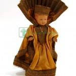 немецкая кукла клеймо черепаха Schildkröt Schildkrot пластик 27 см