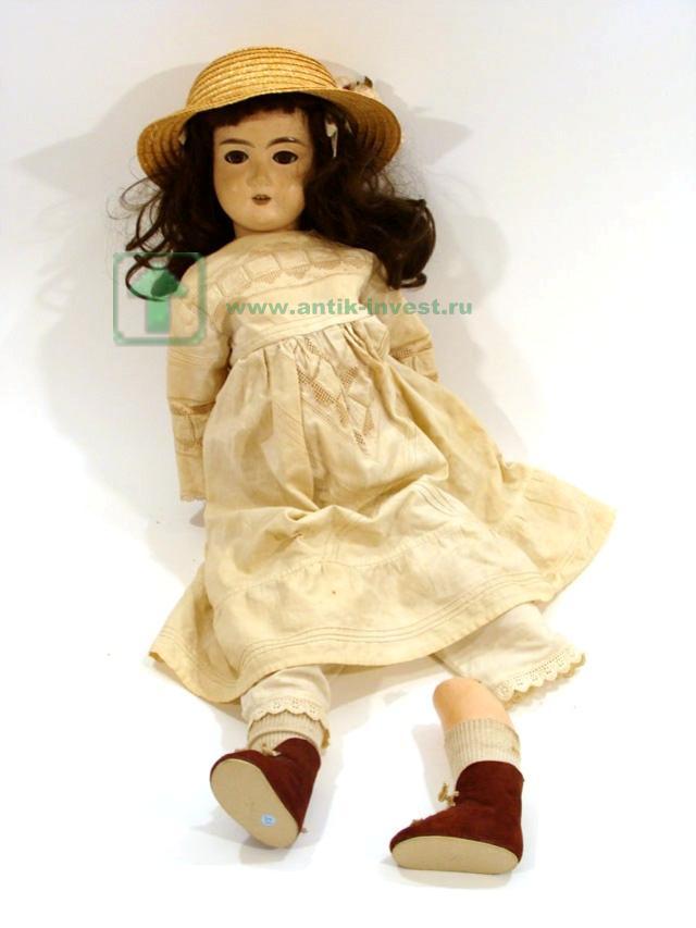 немецкая старинная кукла голова фарфоровая 66 см дефект реставрации