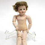 немецкая характерная композитная кукла Heubach 28 см волосы мохер корпус артикуляционный 1900 годы
