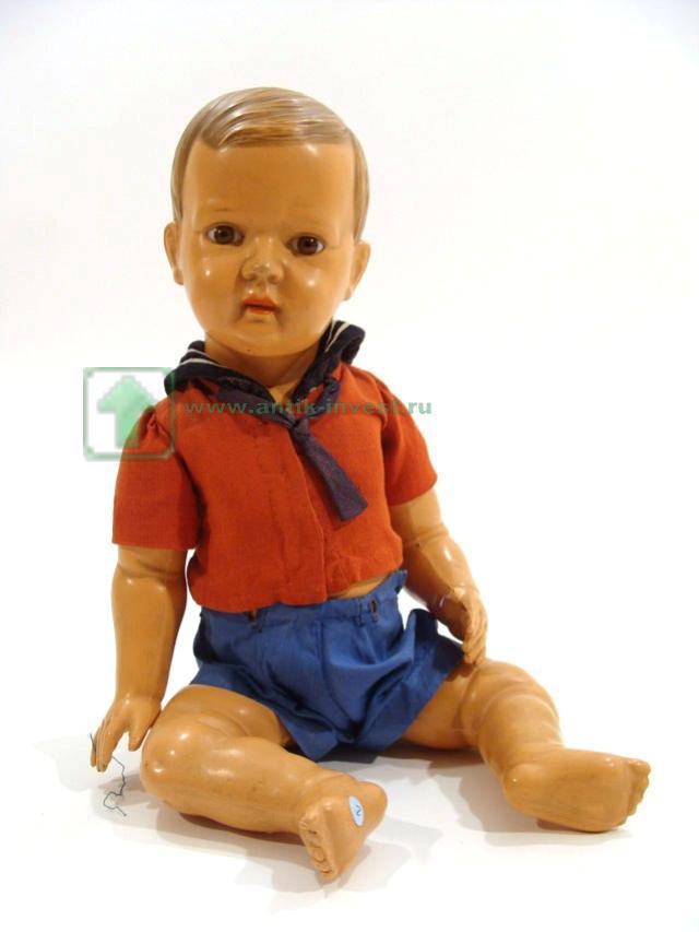 немецкий мальчик кукла черепаха Schildkröt целулоидная артикуляционное тело глаза стекло
