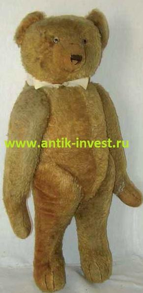 немецкий плюшевый медведь мишка тедди Teddy Bear высота 70 см 28'' реставрация