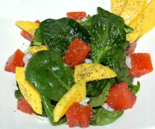новогодние рецепты салат из лосося и манго