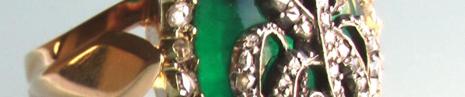 антикварное золотое кольцо XVIII века с инициалами