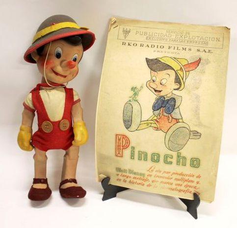 пинокио Буратина 50-е годы полихром фетр