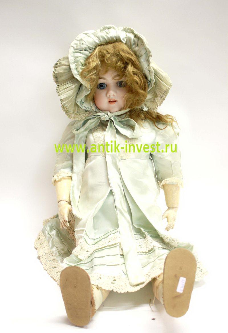 оригинал старинная кукла Heinrich Handwerck 109 63 см