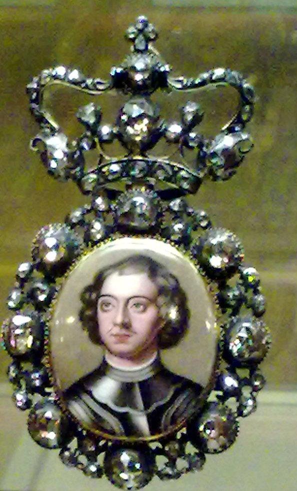 Портрет царя Петра I миниатюрный