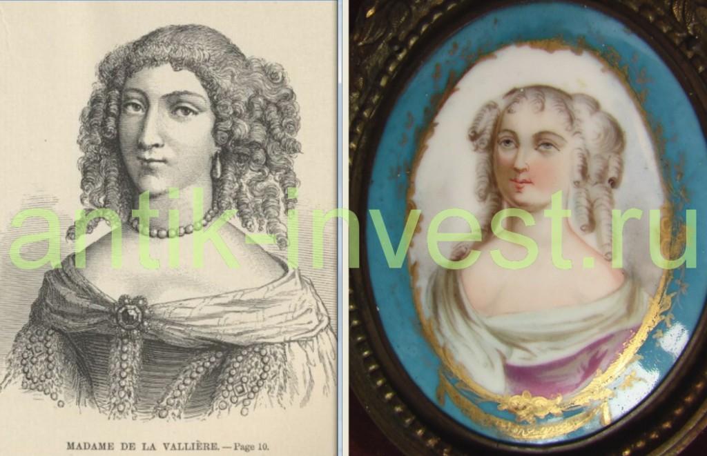 медальон портрет девушки женщины
