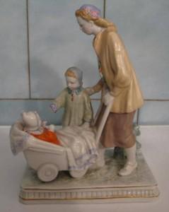 прогулка Дулевского фарфорового завода мать и дитя мама с детьми