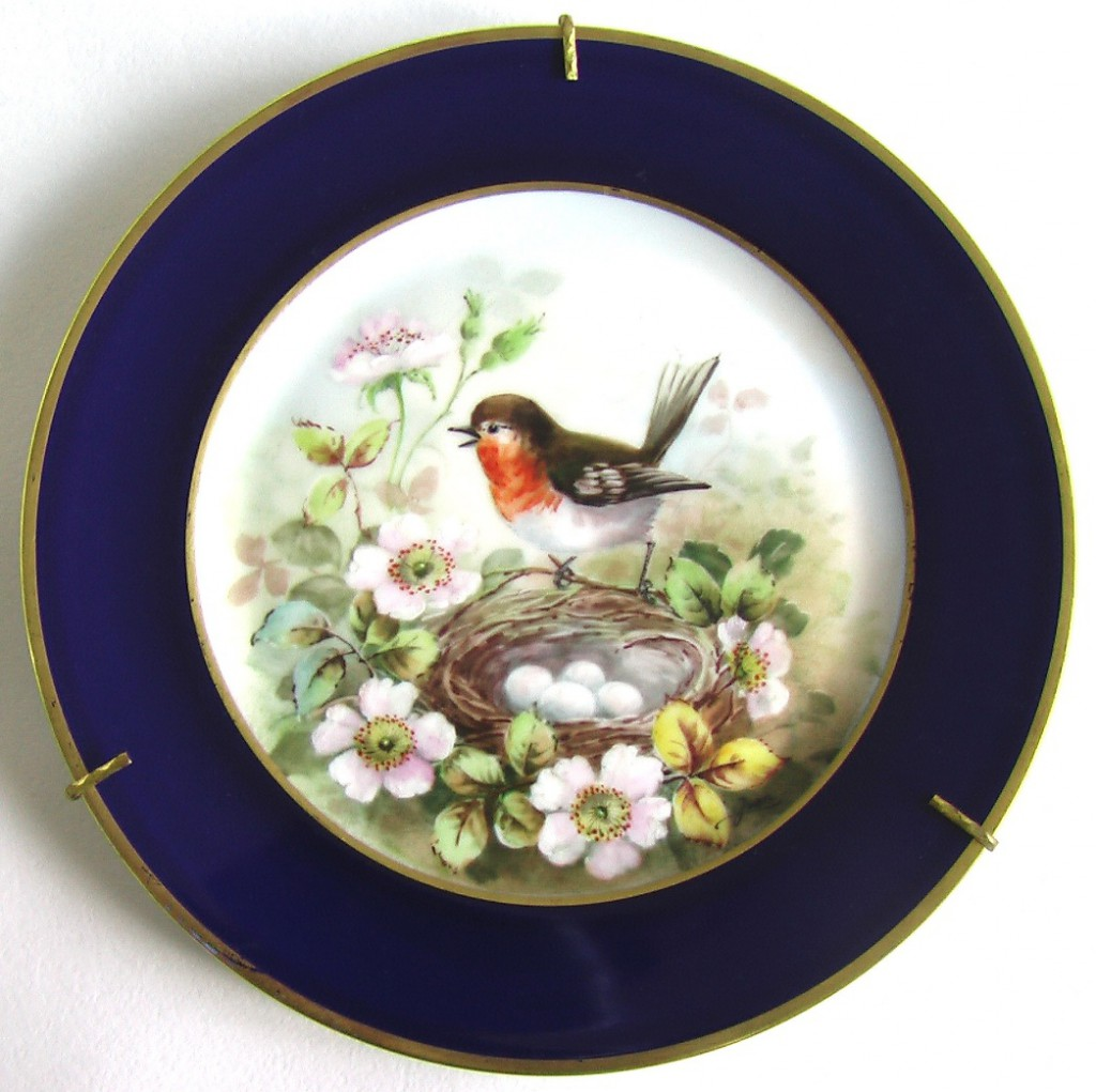 декоративная фарфоровая редкая тарелка Limoges Лимож франция
