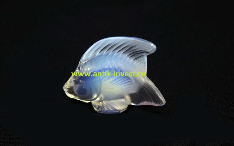 рыбка стекло подпись LALIQUE Лалик 5 на 6 см