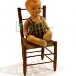 пупсик полу целулоид со стульчиком 16 см