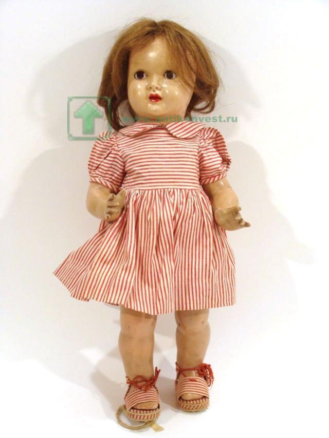 редкая испанская кукла 1940-е года одежда и обувь оригинальные реставрация