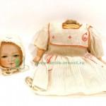 редкая старинная немецкая кукла Sigfried под реставрацию фарфор композит набивная 34 см