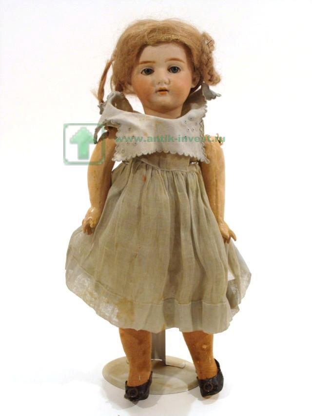 редкая старинная французская кукла марка Lanternier голова фарфор тело композит 42 см