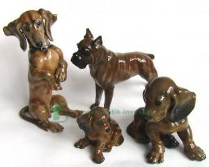 Розенталь Rosenthal собака такса щенок таксы бульдог анималистическая скульптура