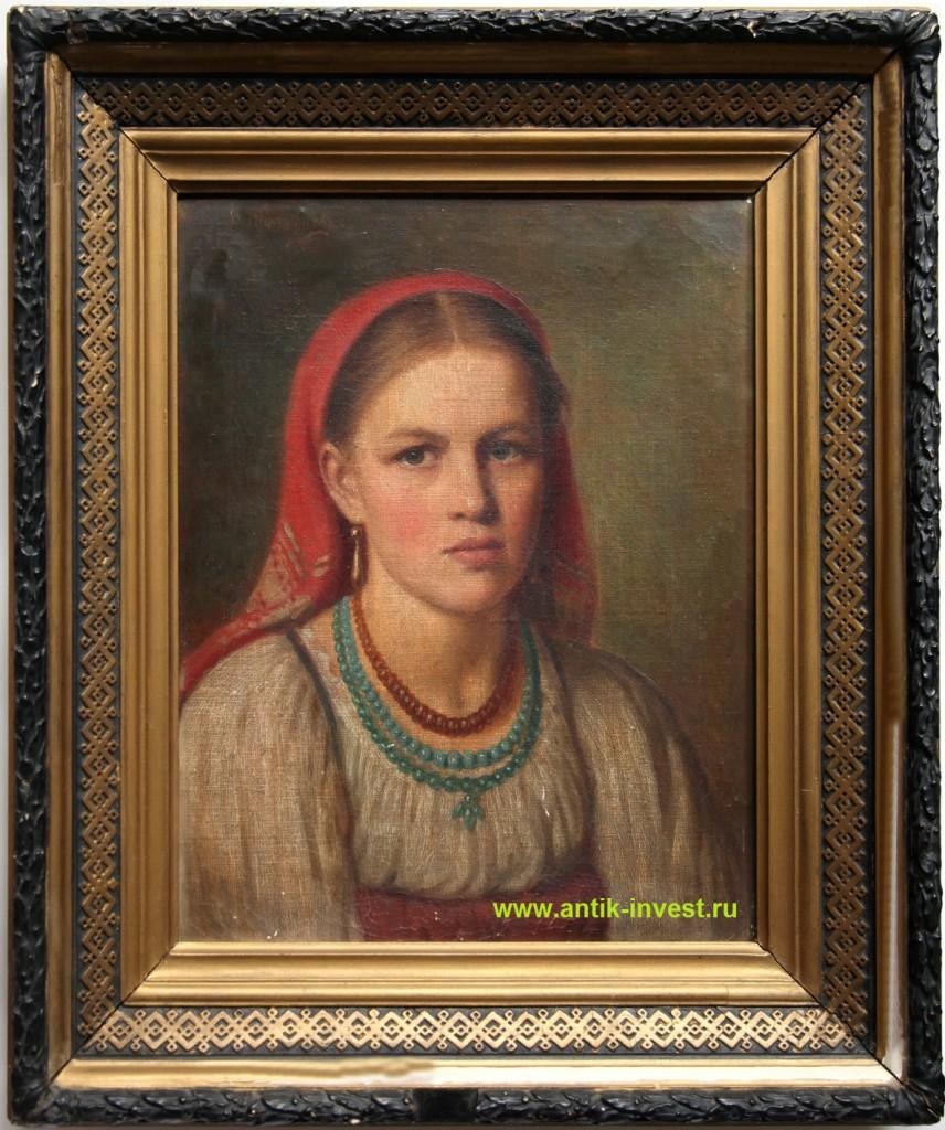 живопись портреты русских девушек женщин художников XIX века