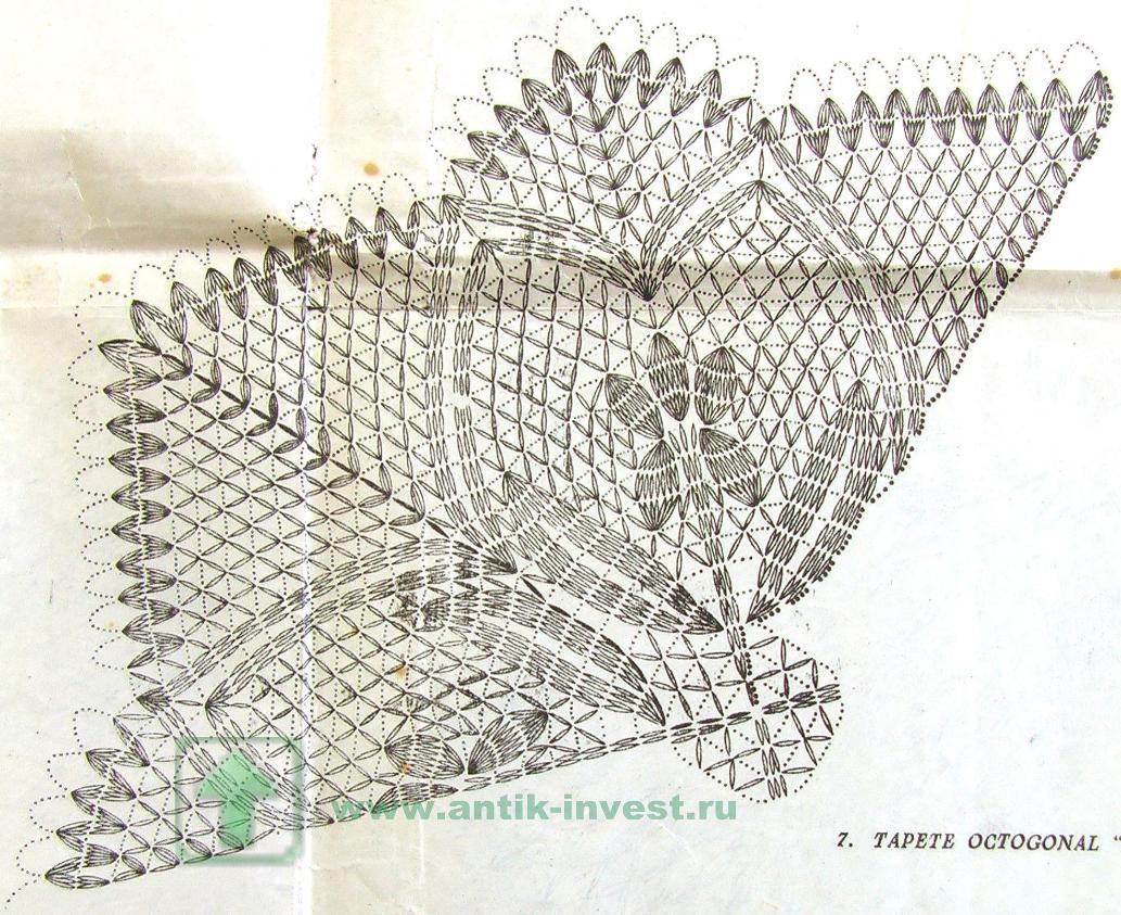 Схему бля вязания салфеток крючком