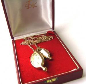 купить salvador dali ювелирные украшения  сальвадор дали кулон на цепочки серебро позолота