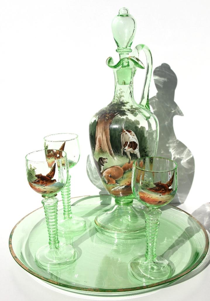 купить подарок охотнику сервиз Охотничий набор Охота графин для вина бокалы и поднос