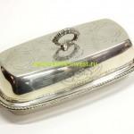 серебряная масленка 17 на 9 см высота 6 см вес 270 грамм