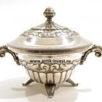 серебряная сахарница шкатулка стиль ампир вес 173 грамма интернет аукцион антиквариат