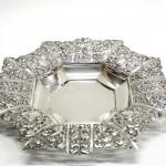 серебряное блюдо тарелка 440 грамм высота 4см 30 на 30
